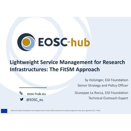 Lightweight Service Management for Research Infrastructures: The FitSM Approach